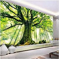 Lcymt 壁画の壁紙 森の風光明媚で暖かい太陽の壁画壁紙リビングルームのソファベッドルームテレビの背景の装飾の壁紙-120X100Cm