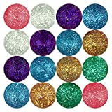 Entervending Bouncy Balls - Rubber Balls for Kids - Glitter Bounce Balls - 25 Pcs Large Bouncy Ball 45 mm - Super Ball Vending Machine Toys - Hi Bounce Balls - Party Favors Balls