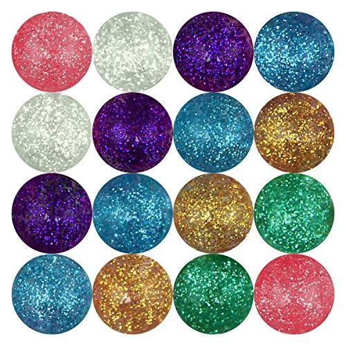 Entervending Bouncy Balls - Rubber Balls for Kids - Glitter Bounce Balls - 25 Pcs Large Bouncy Ball...