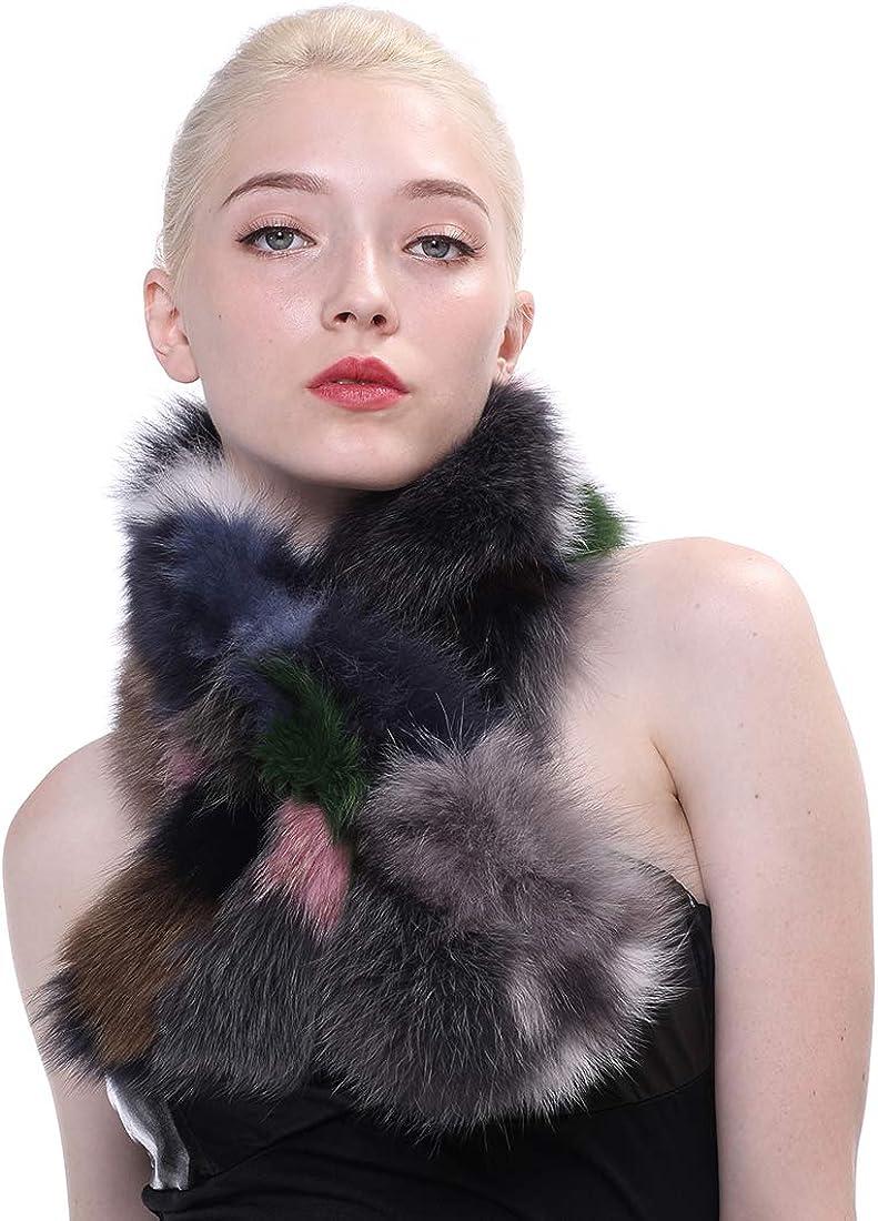 URSFUR Women Max 48% OFF Real Fox Fashion Fur Scarf Scar Winter Colorful Wrap