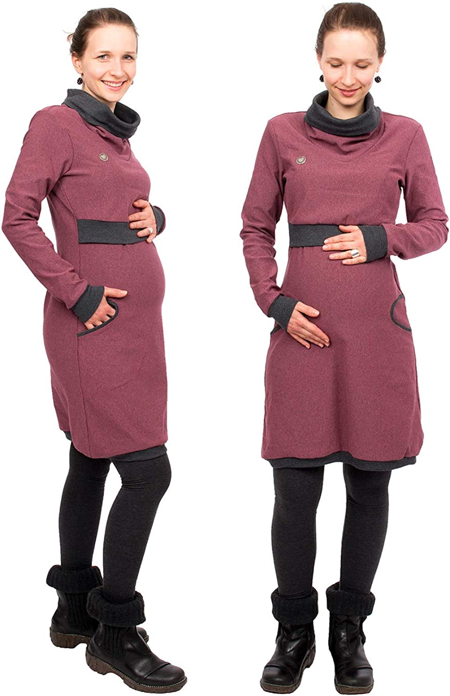Winterkleid aus Baumwolle Stillkleid Neele 3in1 Umstandskleid Viva la Mama