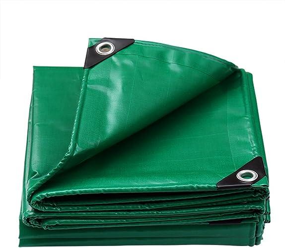 LJL Bache imperméable Bache imperméable épaisse, Parasol isolé, bache, antipoussière, auvent prougeégeant du Vent, Anti-oxydation Bache Robuste (Couleur   vert, Taille   2x4m)