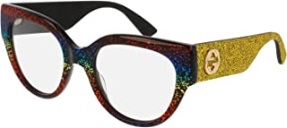 23e4d279f18 Gucci Eyeglasses 0103 Yellow Rainbow Glitter RX Optical Frame 50mm