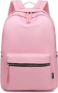 Classic Nylon Lightweight Daypack Waterproof Women's Backpack Teen Girls School Bookbag Travel Bag (Pink)