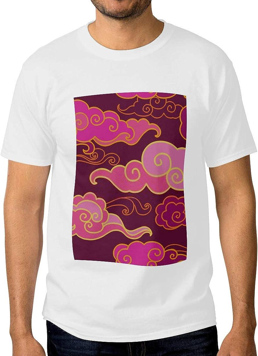 Free Max 57% OFF Shipping New Mens Crewneck Shirts Traditional Purple Tones Oriental Ornament