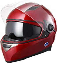 AHR DOT Motorcycle Full Face Helmet Dual Visors Lightweight ABS Street Bike Motorbike Touring Sports Man Woman