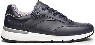 Nero Giardini Oakland E101992U - Zapatillas deportivas para hombre de piel blanca