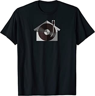 I Love House Music - House Music DJ Monochrome Turntable T-Shirt