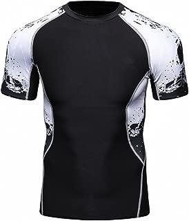 Fanii Quare Men's Lightweight Short Sleeve Cool Dry Rashguards Compression Sports Workout T-Shirt