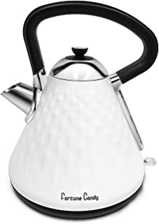 Fortune Candy KS-1011E Modern Stylish Design Stainless Steel Boiling Hot Water Kettle with Diamond Pattern