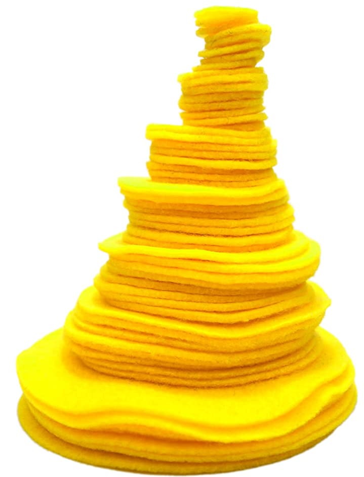 Playfully Ever After Yellow 3/4 to 4 Inch Assorted Sizes 56pc Felt Circles