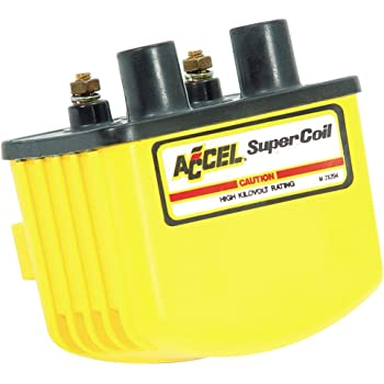 ACCEL ACC 140408 Single Fire Yellow Super Coil, Black, One Size