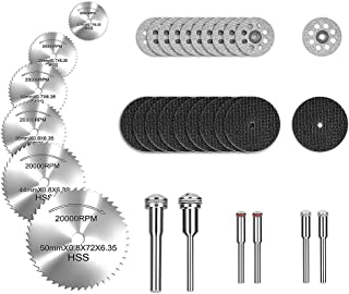 Rotary Tool Cutting Wheels Diamond Cutting Wheels and Resin Cutting Off Wheels With Mandrels, Hss Circular Saw Blades With 1/8