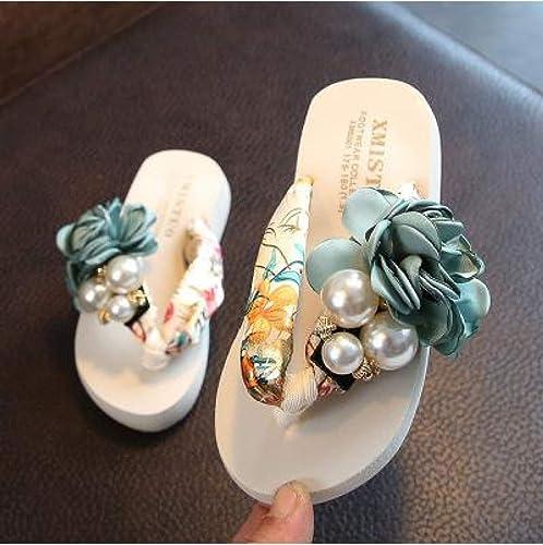 DZKA Sandales Filles Pantoufles De Plage Enfants Enfants Enfants Pantoufles Florales Femmes Maison Chaussures Enfants Mode Décontracté Tongs Sandales 246