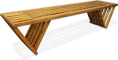 GloDea X70 Outdoor Bench, Light Brown