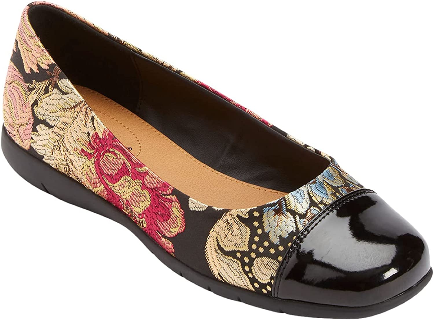 Comfortview Women's Wide Width The Fay Flat - 1 2W 10 Limited time cheap sale New Shipping Free Flo Shoes