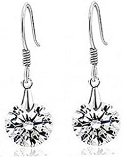 Sukkhi Crystals from Swarovski Drop Down Platinum Plated Earring for Women and Girls (E80756)