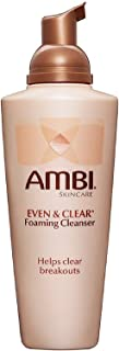 Ambi Skincare Even & Clear Foaming Cleanser, 6-Ounce Bottles (Pack of 3)