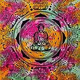 MOMOMUS Arazzo da Parete Grande - Mandala in Cotone Indiano/Etnico - Telo Mare Matrimoniale xxl con Motivi Simmetrici Ispirati alla Natura - 210x230cm