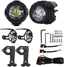 Hearthrousy Luces de Niebla de Motocicleta LED Lámparas de Conducción 40W General Motorcycle y BMW Motorcycle Motocicleta con Luces para BMW R1200GS F800GS