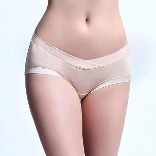 No Trace, Maternity, Cotton, Underwear, Underwear, Underwear Pregnant Women's Underwear, Low Waist. (Color : Beige, Size : XL)