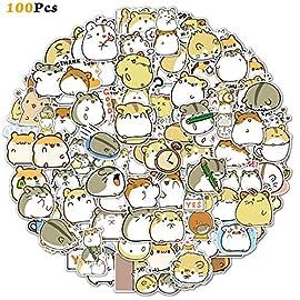 100PCS Hamster Stickers Japanese Sanrio Stickers Cute Animal Stickers Kawaii Laptop Stickers Vinyl Waterproof Stickers…