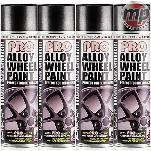 MP Essentials E-Tech Alloy Wheel Refurbish Repaint Refurb & Refresh Spray Paint (Bavarian Dark...