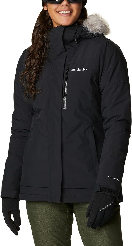Columbia AVA Alpine Insulated Chaqueta De Esquí con Capucha, Mujer, Naranja (Bold Orange, White), XL