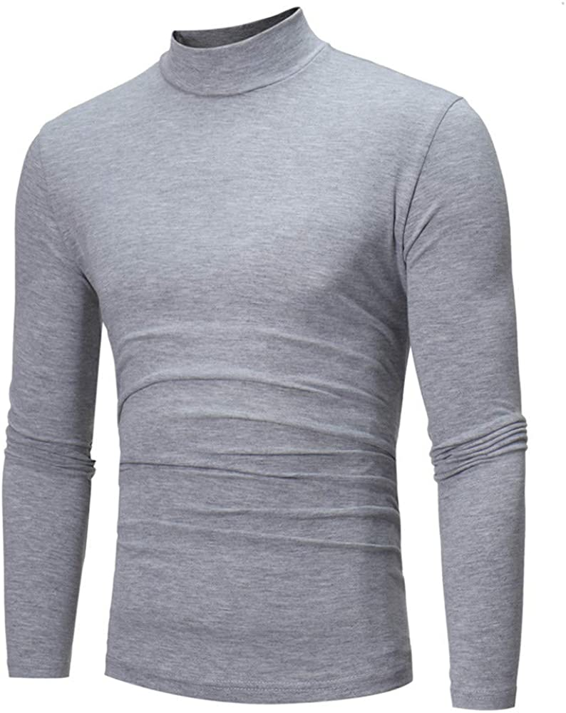 BEUU Men's Slim Fit Basic Thermal Turtleneck T Shirts Casual Cotton Knitted Pullover Sweaters Long Sleeve Fall Warm Tops