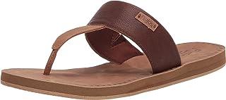 FLOJOS Women's Grace Flip-Flop, Brown/TAN, 6