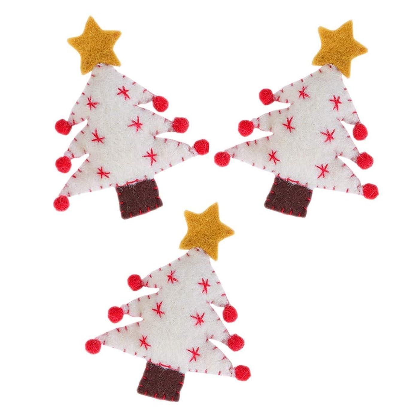 解釈ジョージエリオット獣Urmagicクリスマスツリー 手作り ぬいぐるみ 不織布 クリスマス飾り 3個セット バレンタインデー クリスマス チャーム 手作りアクセサリー