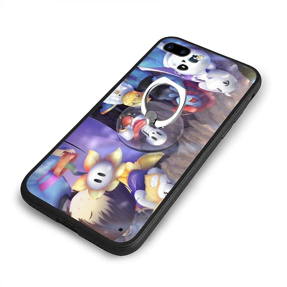 すきシステム電卓UndertaleiPhone 7/8 Plusケースリングブラケット 携帯カバー 創意デザイン軽量 傷つけ防止 360°回転ブラケット 携帯ケース PC 衝撃防止 全面保護
