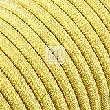 merlotti 20369Cable eléctrico Redondo h03vv-f 2x 0.75, Canvas Amarillo, 3m