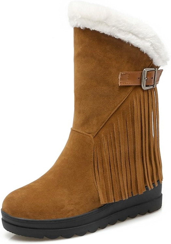 KemeKiss Women Hidden Heel Boots Pull On