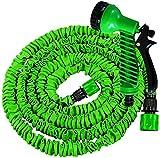 Xonic Flexibler Gartenschlauch dehnbarer Wasserschlauch flexibel Grün (15m)