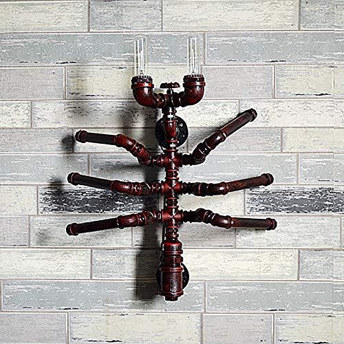 LCSD Lámpara de Pared Retro lámpara de Pared de Hierro Forjado Tubo de Agua lámpara de Pared Decorativa de la Personalidad de la Hormiga/Bar cafetería Metal decoración de la Pared Hierro artes
