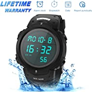 Sport Watch, 50M Waterproof Watch, Sport Wrist Watch for Men Women Kids, Digital Watch with Alarm...