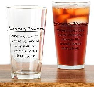 d05ed0be570 CafePress Vet Med: Animals Better Pint Glass, 16 oz. Drinking Glass