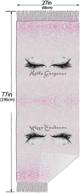 Pink Eyelash Cashmere Feel Scarf Lightweight Soft Scarfs For Boys Girls Creative Warm Cold Weather Blanket Scarf