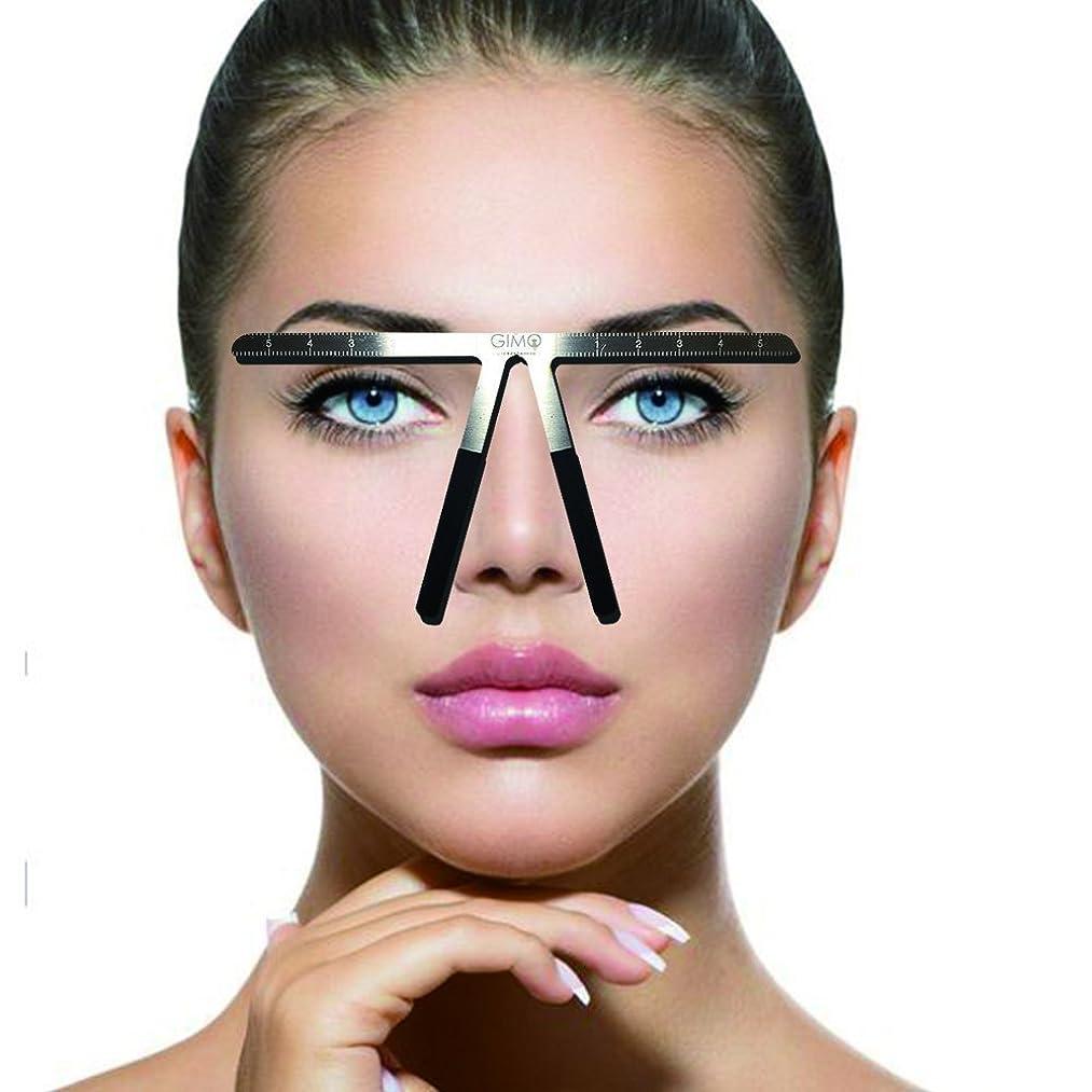 娯楽予想するできる入れ墨の眉の定規3点の位置決め永久的な化粧道具