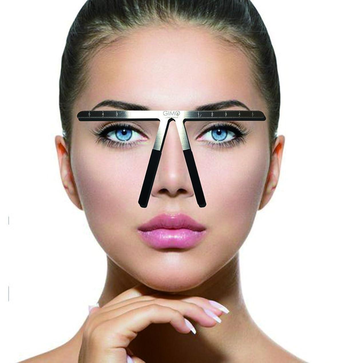 不倫死すべき早熟入れ墨の眉の定規3点の位置決め永久的な化粧道具
