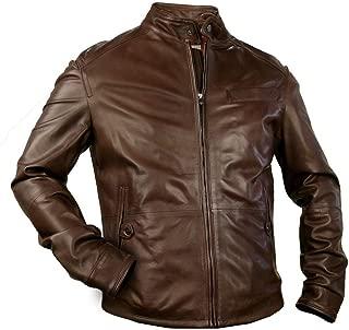 DDMilano Men's Gorgeous Genuine Premium Leather Jacket Classic Style Treviso