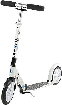 Micro® Black / White, Scooter Urbano, Plegable, 2 Ruedas PU ...