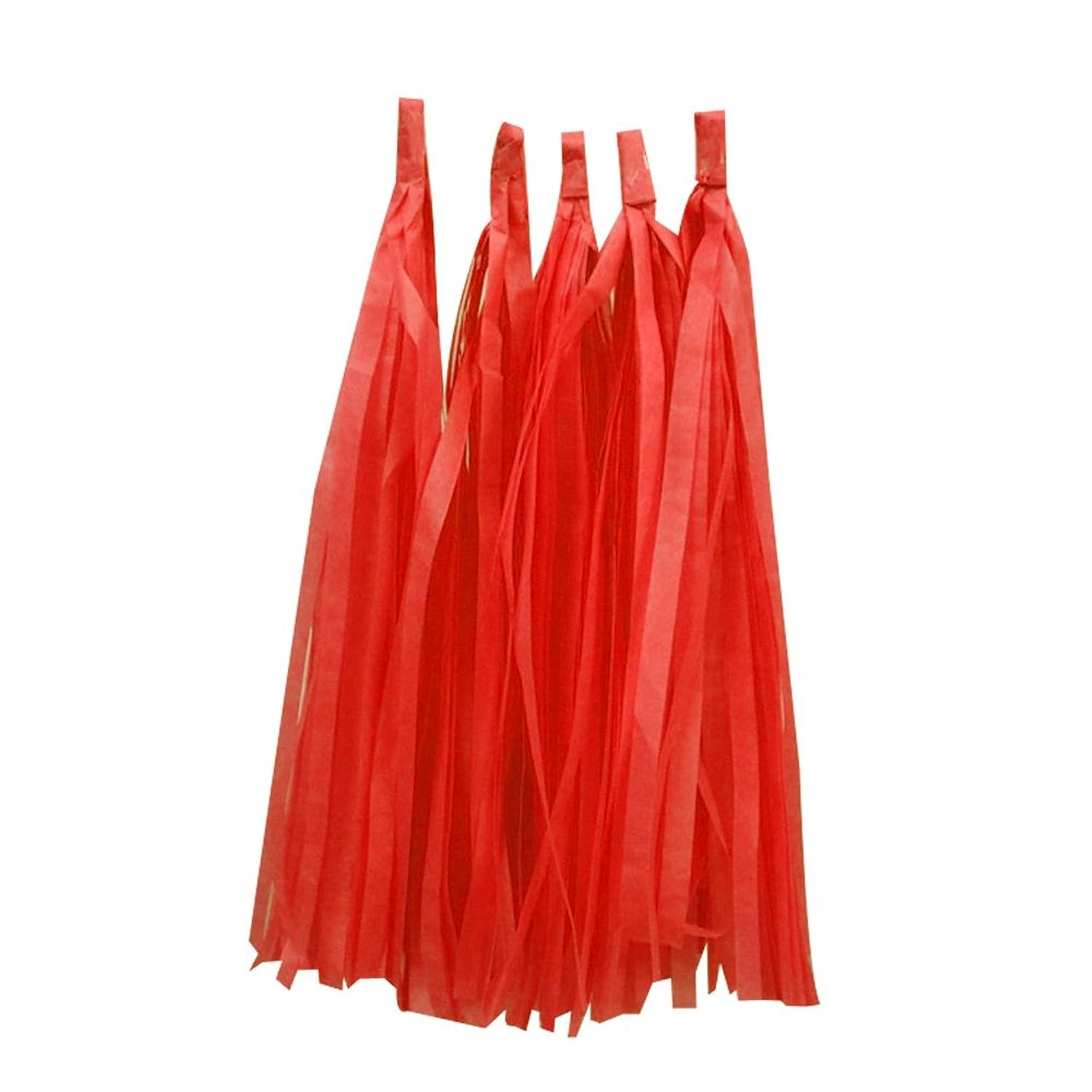 Estyle Fashion 10PCS Birthday Tissue Paper Tassel Garland for Baby Shower Party Wedding Decoration (Dark Orange)