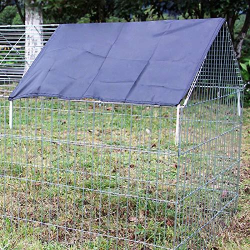 Wiltec Abdeckung für Freigehege Sonnenschutz aus Polyester 885 x 590 mm für Kaninchenkäfig und Hasenstall