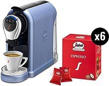 Segafredo Zanetti Coffee System - Macchina per Caffè Espresso 1 Plus Azzurra, Compatta, Intuitiva ed Elegante con 60 Capsule Espresso Originali Segafredo, Aroma Equilibrato e Cremoso