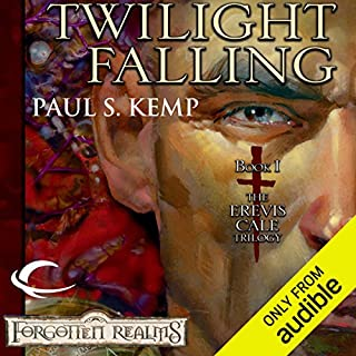 Twilight Falling     Forgotten Realms: Erevis Cale Trilogy, Book 1              By:                                                                                                                                 Paul S. Kemp                               Narrated by:                                                                                                                                 John Pruden                      Length: 10 hrs and 44 mins     295 ratings     Overall 4.5