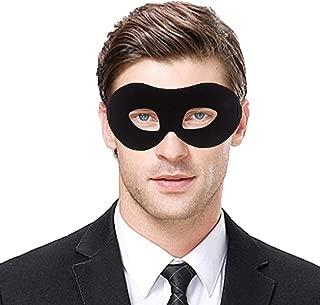 IDOXE Zorro Black Masquerade Masks Cool Men Fighter Masquerade Face Mask for Ball Party/Halloween (Black)