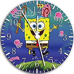 Spongebob Squarepants Frameless Wall Clock W46 Nice for Decor Or Gifts