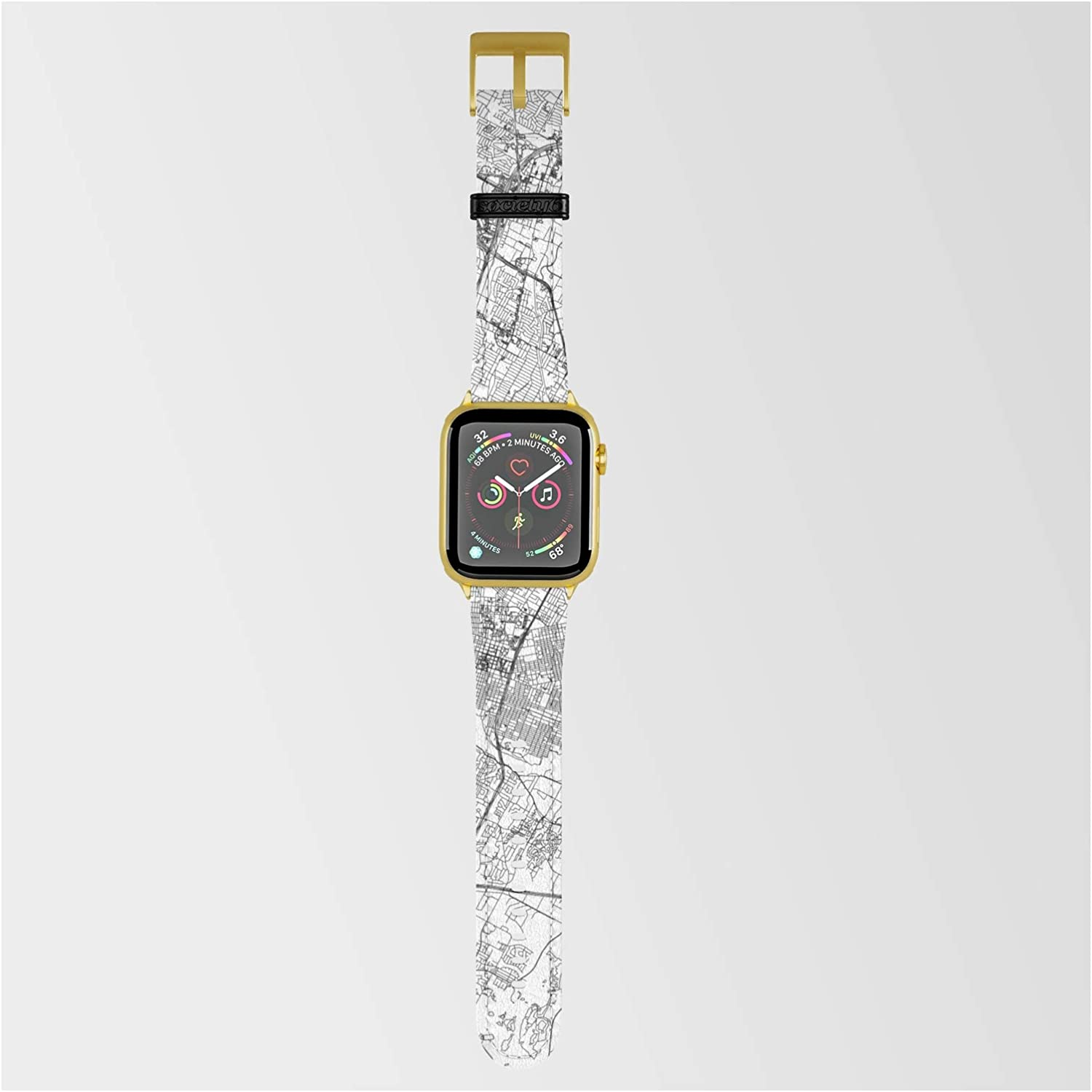 Ranking integrated 1st place Austin White Map Max 82% OFF by Multiplicity Band Smartwatch w Compatible on